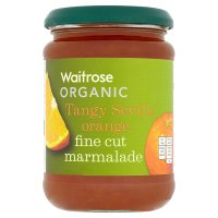 Waitrose organic Seville orange thin cut marmalade
