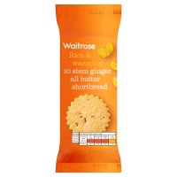 Waitrose Scottish stem ginger shortbread