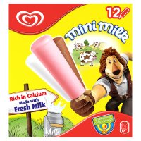Mini Milk vanilla, strawberry & chocolate 12 pack ice cream lolly