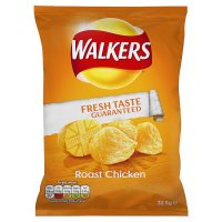 Walkers roast chicken single crisps