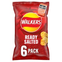 Walkers ready salted plain multipack crisps