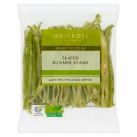 Waitrose British ready sliced runner beans