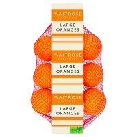 Waitrose large navel oranges