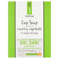 Waitrose Love life you count country vegetable soup in a cup, 4 servings