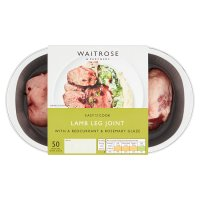 Waitrose Easy To Cook Lamb leg joint with redcurrant & rosemary glaze