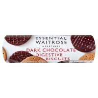 essential Waitrose plain chocolate digestive biscuits