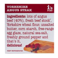 I's Pies Yorkshire angus steak pie
