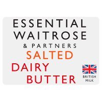 essential Waitrose salted dairy butter