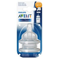 Philips Avent airflex 6month fast flow teat, pack of 2