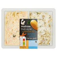 Waitrose Coleslaw & Potato Salad Twin Pot