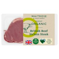 Duchy Originals for Waitrose organic British beef sirloin steak
