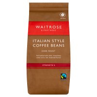 Waitrose Intense, Dark & Distinctive Italian Style Coffee Beans
