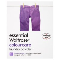 essential Waitrose colourcare washing powder 10 washes