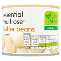 essential Waitrose canned butter beans in waiter