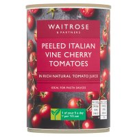Waitrose tinned cherry tomatoes in natural juice