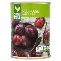 John West Red Plums (in syrup)