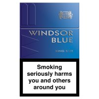 Windsor Blue king size cigarettes