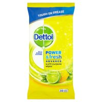 Dettol Power & Fresh cleaning wipes, citrus zest