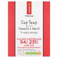 Waitrose Love life you count tomato & basil soup in a cup