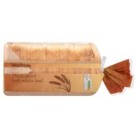 Waitrose soft white thick sliced bread