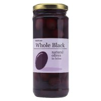 Waitrose natural whole black olives