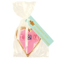 Image on Food I love you heart gingerbread