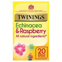 Twinings fresh & fruity echinacea & raspberry 20 tea bags