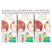 essential Waitrose pure apple juice, 6 pack