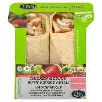 DD's wrap chick goujon/sweet chilli