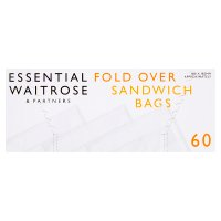 Waitrose single sandwich bags, roll of 60