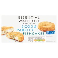 essential Waitrose MSC cod & parsley fish cakes