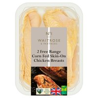 Waitrose 2 Free Range British chicken breast fillets
