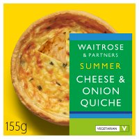 Waitrose extra mature Cheddar & onion quiche