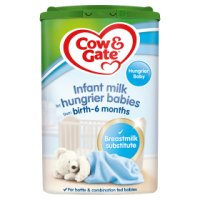 Cow & Gate newborn milk hungrier babies
