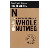 Waitrose Cooks' Ingredients organic whole nutmeg