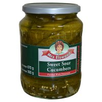 Kosher Mrs Elswood sweet sour cucumbers