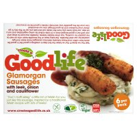 Goodlife glamorgan sausages with leek, onion and cauliflower