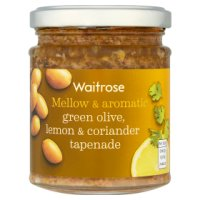 Waitrose Waitrose green olives, coriander & lemon tapenade