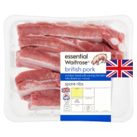 essential Waitrose British pork spare ribs