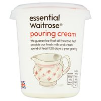 essential Waitrose reduced fat pouring cream