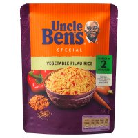 Uncle Ben's special  vegetable pilau rice