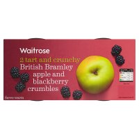 Waitrose bramley apple & blackberry crumbles