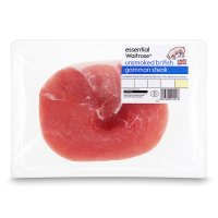 essential Waitrose 1 British Outdoor Bred unsmoked bacon gammon steak