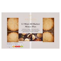 Waitrose Christmas 12 mini all butter mince pies