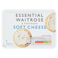 essential Waitrose creamy soft cheese, strength 1