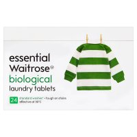 essential Waitrose biological tablets, 24 washes