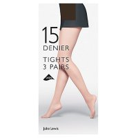 John Lewis Natural Black Tights - 15 Denier - Medium