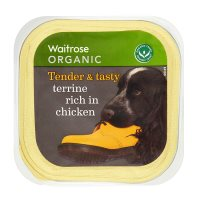 Waitrose organic special recipe dogs terrine with chicken