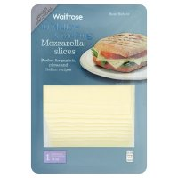 Waitrose extra mild Mozzarella cheese, strength 1, 10 slices