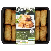 Waitrose 12 mini vegetable spring rolls